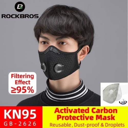 Foto Produk Masker N95 Rockbros Activated Carbon 5 ply Air Valve Protective Virus dari Rockbros Bike