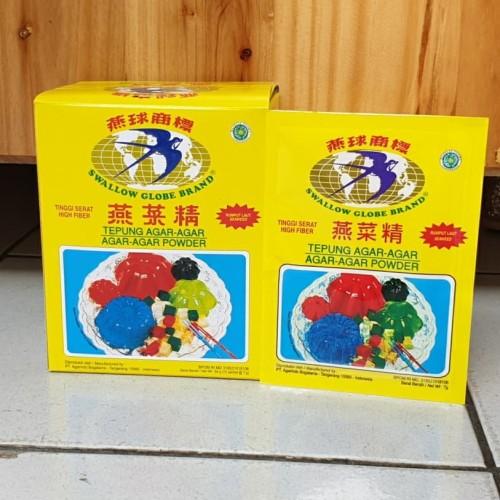 Foto Produk [1box isi 12sachet] Agar Swallow Globe PUTIH / PLAIN 7gr dari Aimee Bag & Plush Toys