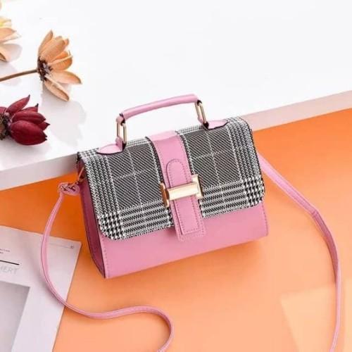 Foto Produk Tas Wanita Selempang Kecil (Import Korea JLB016) kotak ukuran kecil - Pink dari Central..id