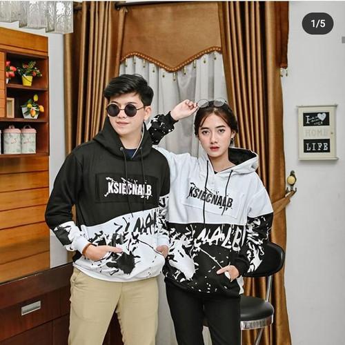 Foto Produk JAKET HOODIE COUPLE KSIECNALB / SWEATER HOODIE COUPLE IKSIECNALB - Putih Couple dari xclo