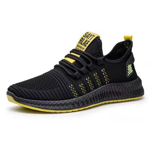 Foto Produk Leedoo Sepatu Pria Sneakers Running Spatu Casual Young Lifestyle MR112 - Hitam Kuning, 42 dari Leedoo