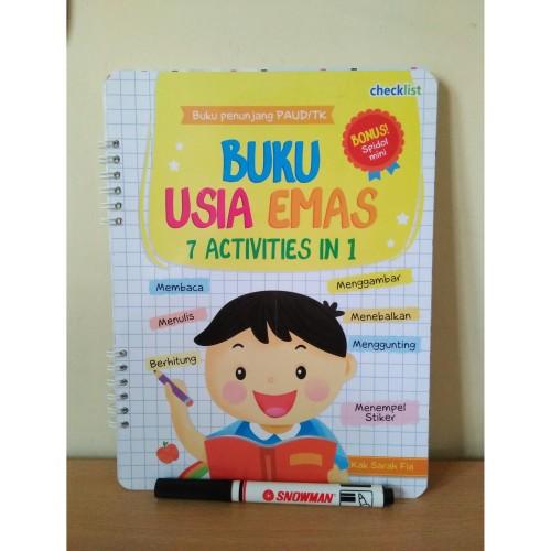 Foto Produk WIPE & CLEAN Buku Usia Emas 7 Activities in 1 (BONUS SPIDOL SNOWMAN) dari mall buku murah