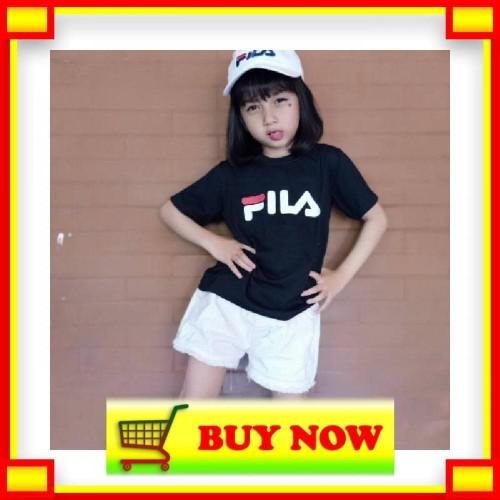 Foto Produk ⭐️Promo⭐️ Baju Anak Wanita Kaos Distro Fila T Shirt Anak dari Ekaeko Shop