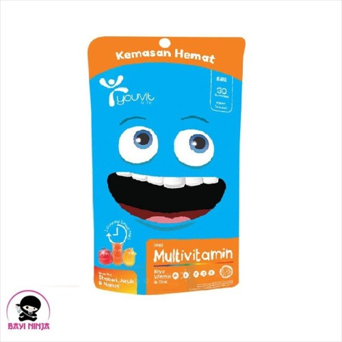 Foto Produk YOUVIT Multivitamin For Kids Vitamin Anak Pouch isi 30 pcs dari BAYININJA