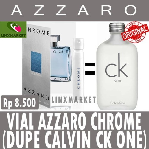 Foto Produk VIAL PARFUM AZZARO CHROME MAN 1.5 ML AUTHENTIC WITH MINI SPRAY dari Linxmarket