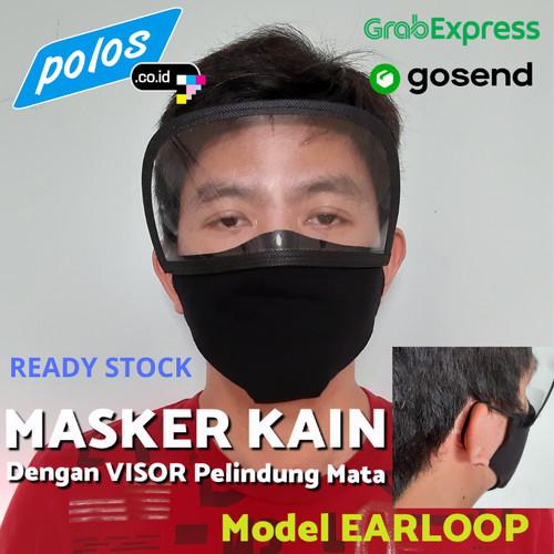 Foto Produk Masker Kain Earloop dengan Visor Pelindung Mata - Ready Stock - Anak dari polos.co.id