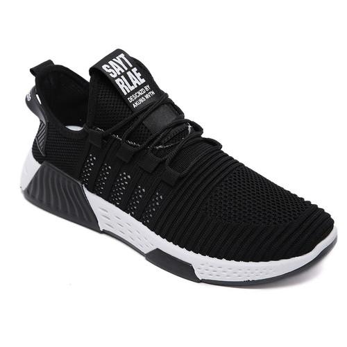Foto Produk PVN Sepatu Sneakers Hitam Pria Sport Shoes Black 449 - black white A, 39 dari PVN Official Store
