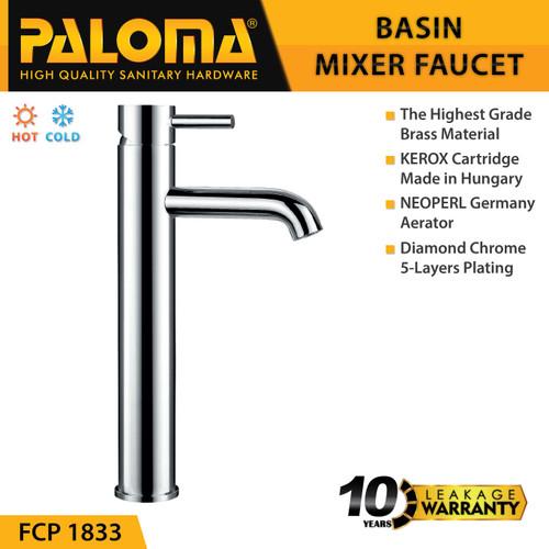 Foto Produk PALOMA FCP 1833 Keran Mixer Wastafel Cuci Tangan Panas Dingin Kran Air dari PALOMA HARDWARE