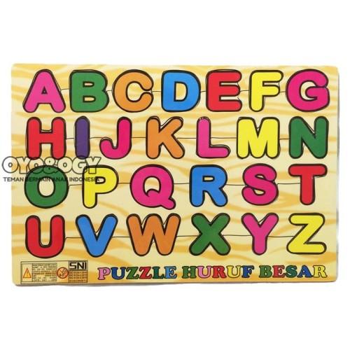 Foto Produk Mainan Edukasi Anak Puzzle Kayu Abjad Alphabet Huruf Besar Kapital ABC dari oyo-ogy