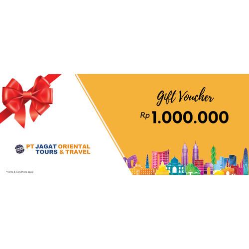 Foto Produk Jagat Tours - Travel Voucher/ E-Voucher / Gift Card / 1 juta dari Jagat Tours & Travel