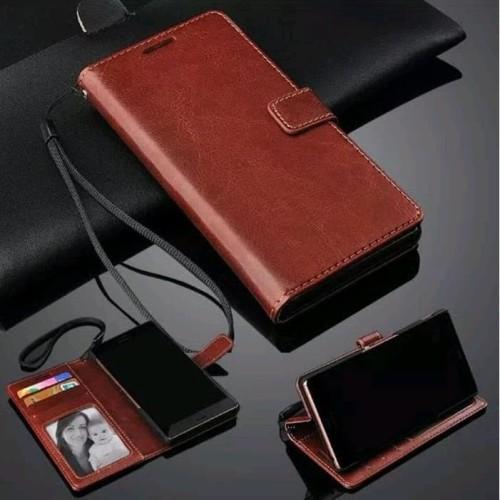 Foto Produk Leather Flip Cover Xiaomi Redmi Note 4 - Wallet Case Kulit - Casing dari TOEX