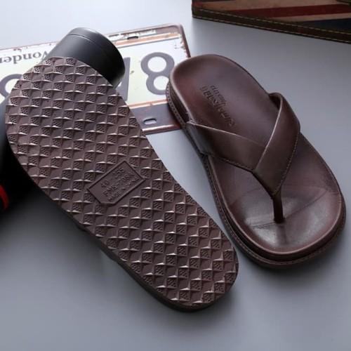 Foto Produk Sandal Karet Flip Flop - Sandal Pria Dan Wanita - Sandal Karet Import - Hitam, 37 dari Slalustok Store