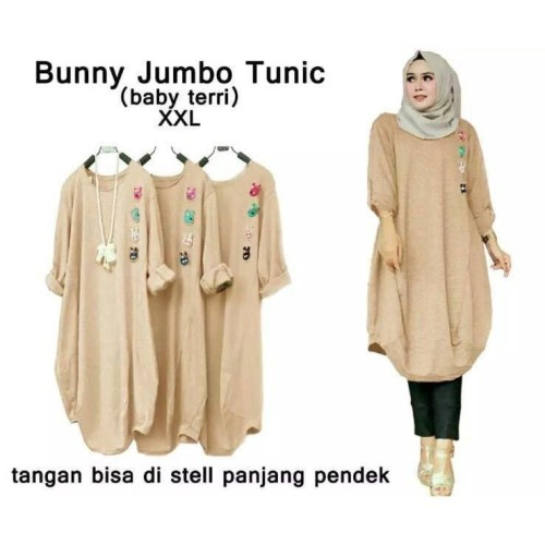 Foto Produk DEVI 53384-59278 BUNNY JUMBO TUNIC Fashion Baju Wanita Model Terbaru - Biru, XL dari DEVI.FASHION