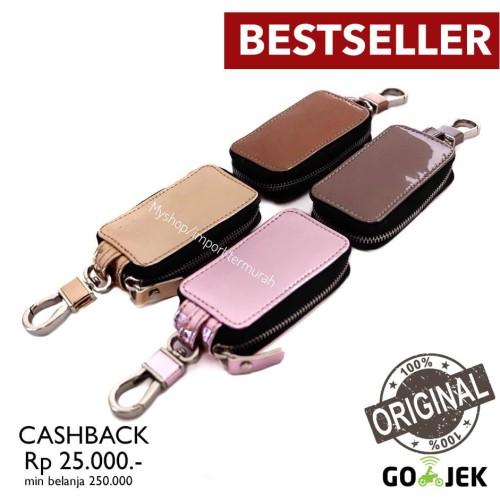 Foto Produk Gantungan Kunci Mobil / Motor Remot - Tempat STNK Metalic - pink dari Toko Import Termurah