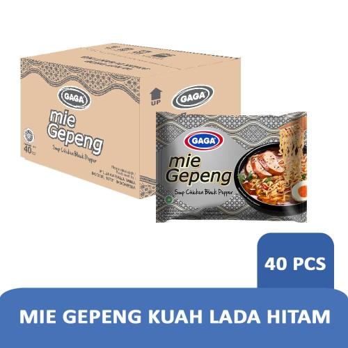 Foto Produk GAGA Mie Gepeng Kuah Lada Hitam 67gr (1 dus = 40 pcs Harga Grosir) dari Gaga Official Store