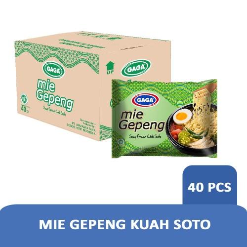 Foto Produk Mie Gepeng Kuah Soto Cabe Hijau 67g (1 dus = 40 pcs Harga Grosir) dari Gaga Official Store
