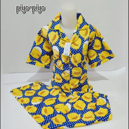 Foto Produk Piyama Katun Celana Panjang / Piyama / Baju Tidur - Biru dari MR Colection Bandung
