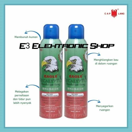 Foto Produk Cap Lang Disinfectant Spray Eucalyptus Free Kuman Bakteri Aman Anak dari E3 Shop Elektronik
