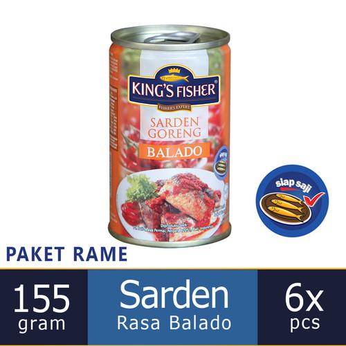Foto Produk Paket 6 pcs King's Fisher Sarden goreng mini rasa saus balado Makanan dari Kings Fisher