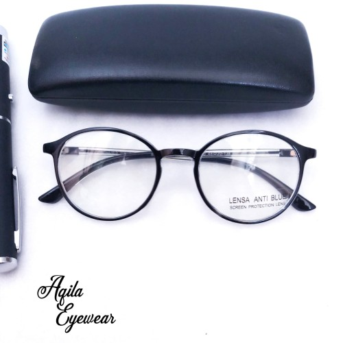 Foto Produk kacamata anti radiasi komputer lentur - Hitam dari aqila eyewear
