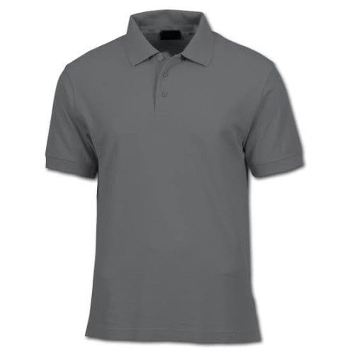 Foto Produk Polo shirt cotton pique polos uk. M,L,XL warna abu tua dari onlinekaosaja