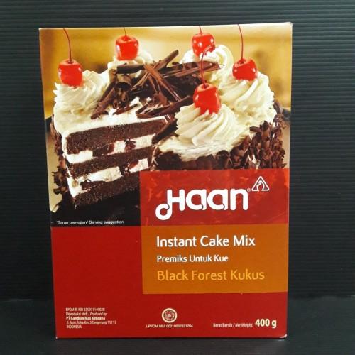 Foto Produk HAAN INSTANT CAKE MIX - BLACK FOREST KUKUS - PREMIKS KUE - 400 GRAM dari warungvitato
