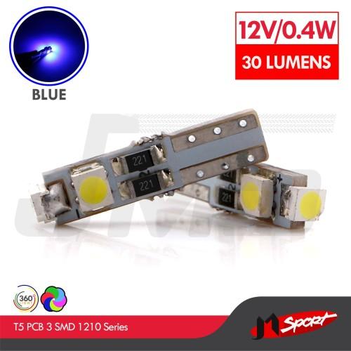 Foto Produk Lampu LED Speedometer T5 PCB 3 SMD 1210 Blue - Model Nyamping dari Jaya Motorsport