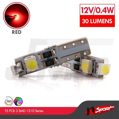 Foto Produk Lampu LED Speedometer T5 PCB 3 SMD 1210 Red Model Nyamping dari Jaya Motorsport