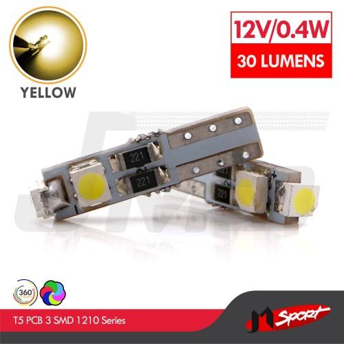 Foto Produk Lampu LED Speedometer T5 PCB 3 SMD 1210 Yellow - Model Nyamping dari Jaya Motorsport