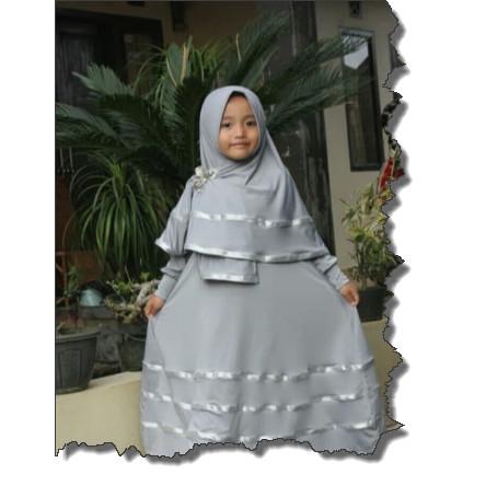 Foto Produk Gamis anak muslim /gamis anak perempuan list pita terbaru dari Sarfaraz_onlineshop