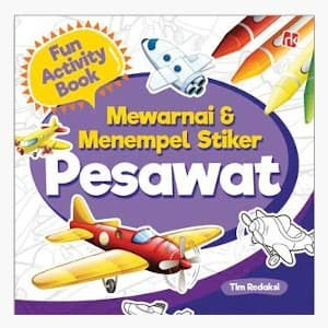 Foto Produk Mewarnai Dan Menempel Stiker Pesawat dari Toko Kutu Buku