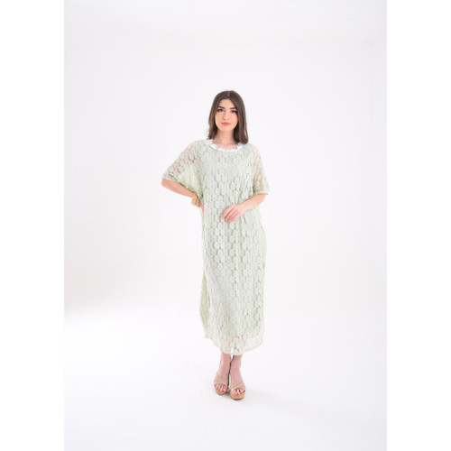 Foto Produk 2 Layer Flo Aplique Lace Kaftan - Mint dari Chic Simple Store