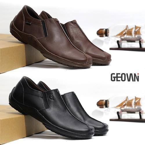 Foto Produk Sepatu Pantofel Pria Formal Kulit Asli Geovani S - P04 - Cokelat, 39 dari Cevany Official