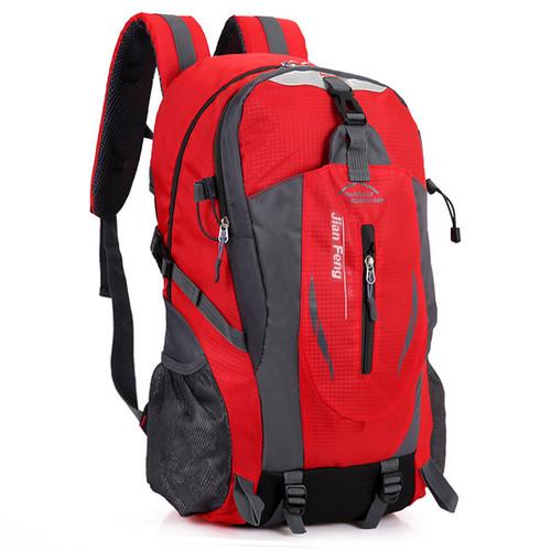 Foto Produk Techdoo Tas Ransel Pria Backpack Tas Sekolah Tas Punggung IMPORT TR106 - Merah dari Techdoo
