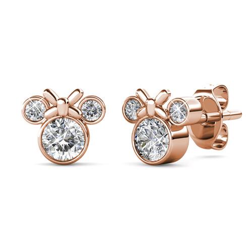 Foto Produk Minnie Earrings - Anting Crystal Swarovski By Her Jewellery - Rose Gold dari Her Jewellery