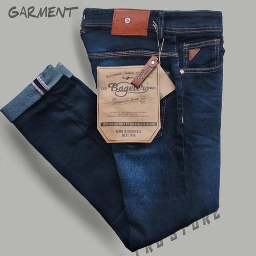 Foto Produk Celana panjang jeans slim fit - celana jeans panjang selvedge stretch - BGLRsatu, S dari TRI RAJA STORE