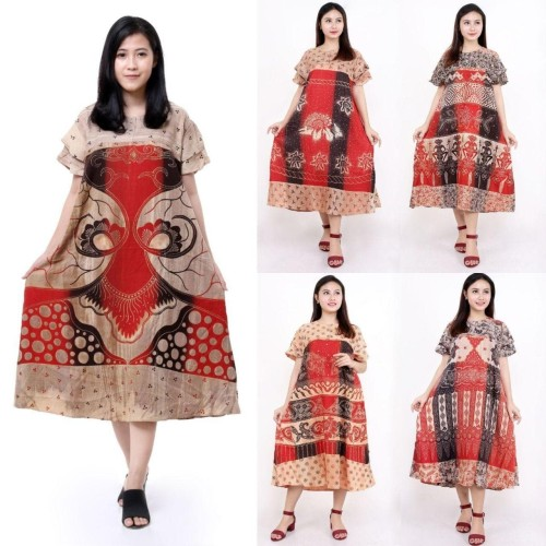 Foto Produk Daster payung Abstrak CENDANA Warna Alam Daster Busui Daster cantik dari Shaki fashion