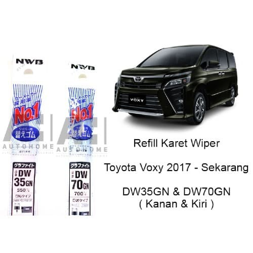 Foto Produk Refill Karet Wiper Toyota Voxy - NWB Japan DW35GN & DW70GN dari Auto Home