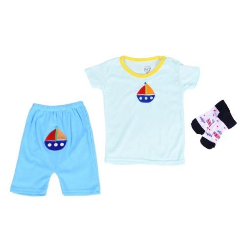 Foto Produk Pajamas Lovelle Cart's Short Sleeves 2 sets in 1 + Socks dari Lovelle Cart's