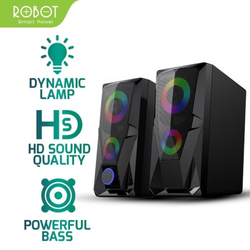 Foto Produk ROBOT Speaker Aktif Stereo Gaming 3.5mm Garansi Resmi 1 Tahun RS200 dari ROBOT OFFICIAL SHOP