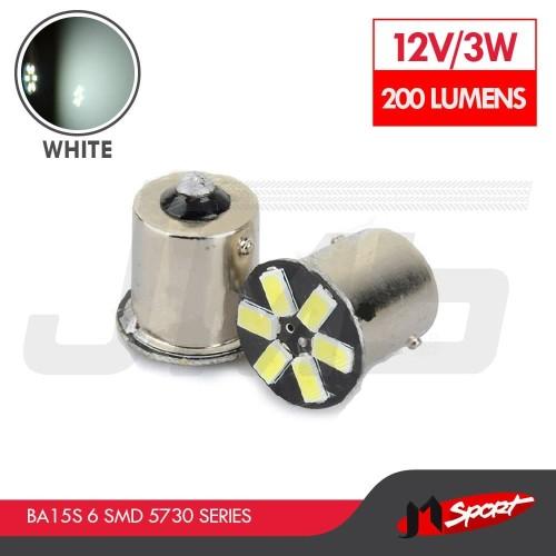 Foto Produk Lampu LED Mobil / Motor S25 1156 / BA15S 6 SMD 5730 White dari Jaya Motorsport