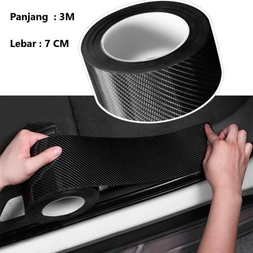Foto Produk List Carbon 5D Lebar 7cm x 3m |Stiker Anti Lecet Lip Bumper Sill Plate dari Gentleman Car