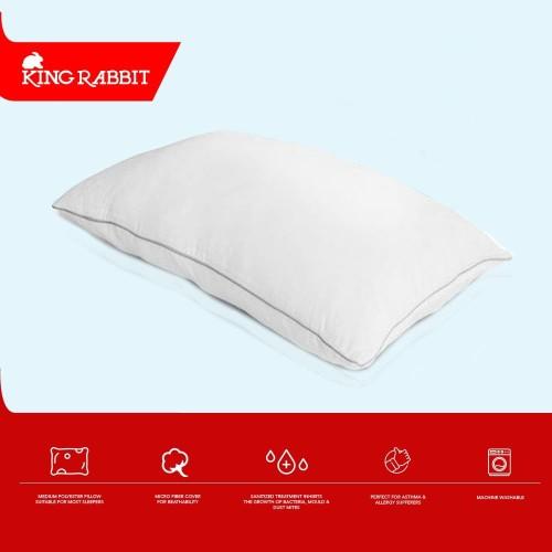 Foto Produk King Rabbit Feather Lite Pillow Size 48x68 cm ( Bantal Kepala ) dari King Rabbit Official