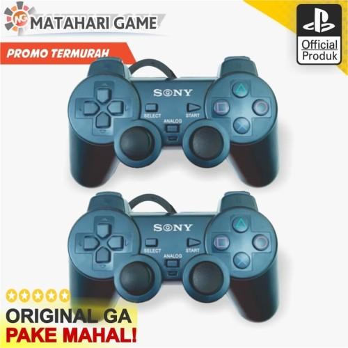 Foto Produk [ Sale ] 2 Pcs Stik Stick PS2 Dualshock Getar SemiOri Best Quality TW dari MatahariGame