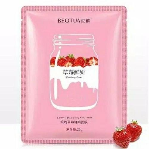 Foto Produk BEOTUA YOGURT FRUIT FACIAL MASK MASKER WAJAH BEOTUA MASK YOGHURT BUAH - Strawberry dari Bursa Cosmetik Murah