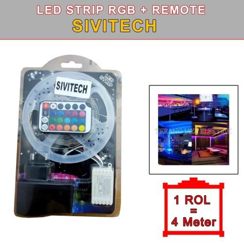 Foto Produk Led Strip RGB WaterProof/outdoor +Adaptor + Remote 5 meter Rocia dari tk terang jaya elektrik