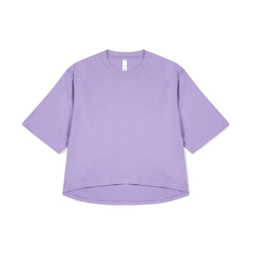 Foto Produk PRIME - Heavy Weight Oversized Cropped Tee - Purple - all size dari Prime Apparel
