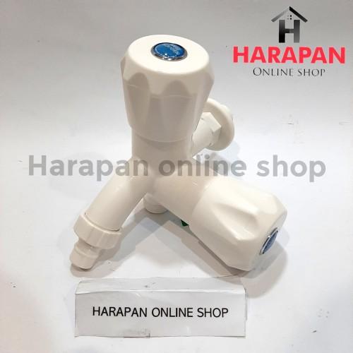 Foto Produk Kran Cabang Plastik New Soligen Kran Shower - KERAN DOUBLE SOLIGEN S10 dari Harapan online shop