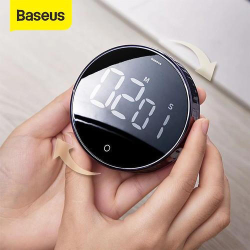 Foto Produk BASEUS TIMER HEYO ROTATION COUNTDOWN DIGITAL TIMER KITCHEN MAGNETIC - Hitam dari Baseus Official Store