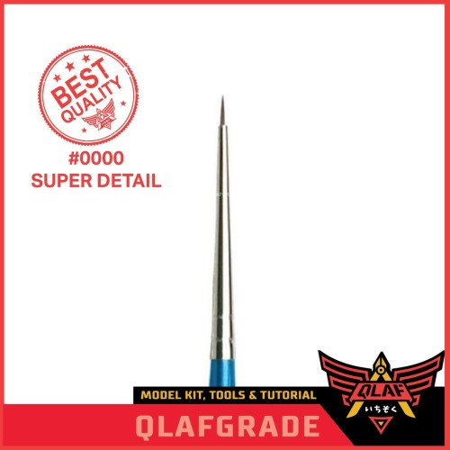 Foto Produk Kuas 0000 SUPER DETAIL / Brush gundam pilot model kit super detail dari Wahkhilaf